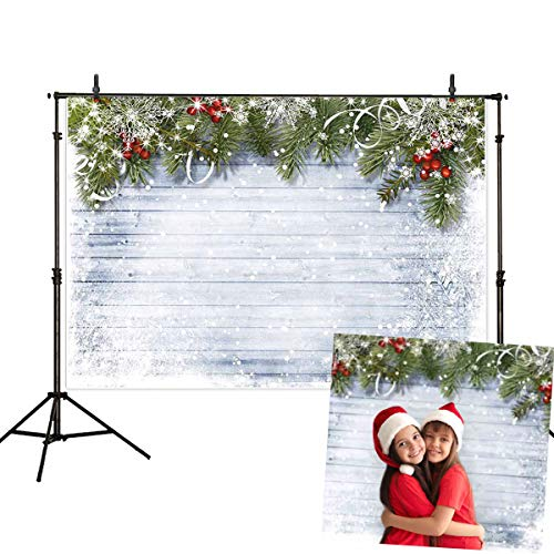 Allenjoy 7x5ft White Christmas Photography Backdrops for Photographer Wooden Wall White Snow Backdrop Photo Background -