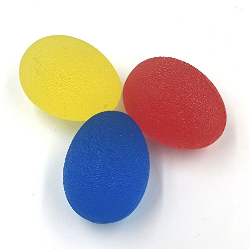 Silicone Grip Balls,EOVAS Restore Hand Therapy Exercise Ball Kit Egg Shape Silicone Hand Grippers Grips Hand Relax Massage Exerciser