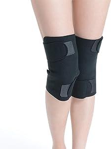AUEDC Self-Heating Knee Brace, 1Pair Tourmaline Self-Heating Kneepad Warm Knee Pads Fit Knee Sprains Cramps Arthritis Pain Relief