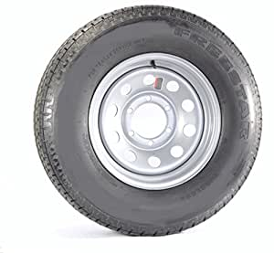 Trailer Tire + Rim ST225/75D15 H78-15 225/75-15 D 6 Lug Wheel Gray Grey Modular
