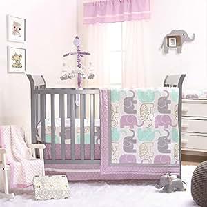 Amazon Com Little Peanut Lilac Purple And Gold Elephants