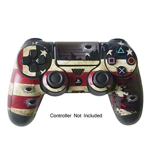 PS4 Controller Designer Skin for Sony PlayStation 4 DualShock Wireless Controller - Battle Torn Stripes