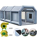 Happybuy Inflatable Paint Booth 39x16.4x13ft with 2 Blowers Inflatable Spray Booth with Filter System Portable Car Paint Booth for Car Parking Tent Workstation