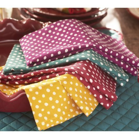 The Pioneer Woman 4 Piece Retro Dot Napkins by The Pioneer Woman