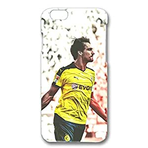 Dortmund FC Phone Case Famous Football Club Player Mats Hummels 3D Plastic Cell Phone Case for Iphone 6/6s 4.7 (inch)