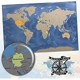 Die Rubbel Mich Weltkarte XXL Rubbelkarte