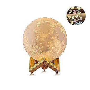 Lampe Chambre Bébé Nuit Pour Lune Rechargeable LedVeilleuse De EnfantUsb Salon Chevet 3d Café Tactile Cadeau f6Ygyvb7