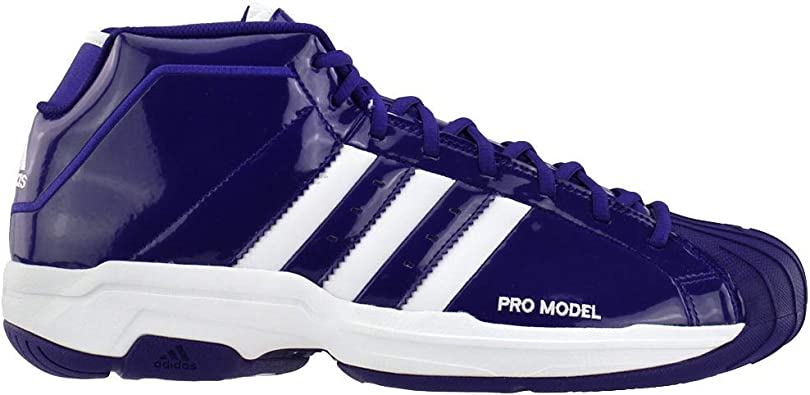 adidas Womens Sm Pro Model 2G Team Basketball Sneakers Shoes Casual - Purple