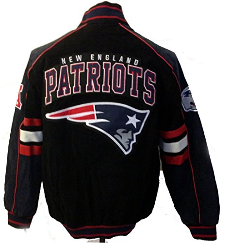 New England Patriots Suede Jacket Leather Patriots, used for sale  Delivered anywhere in USA