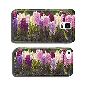 Hyacinths in various colors in a flower bed cell phone cover case iPhone6