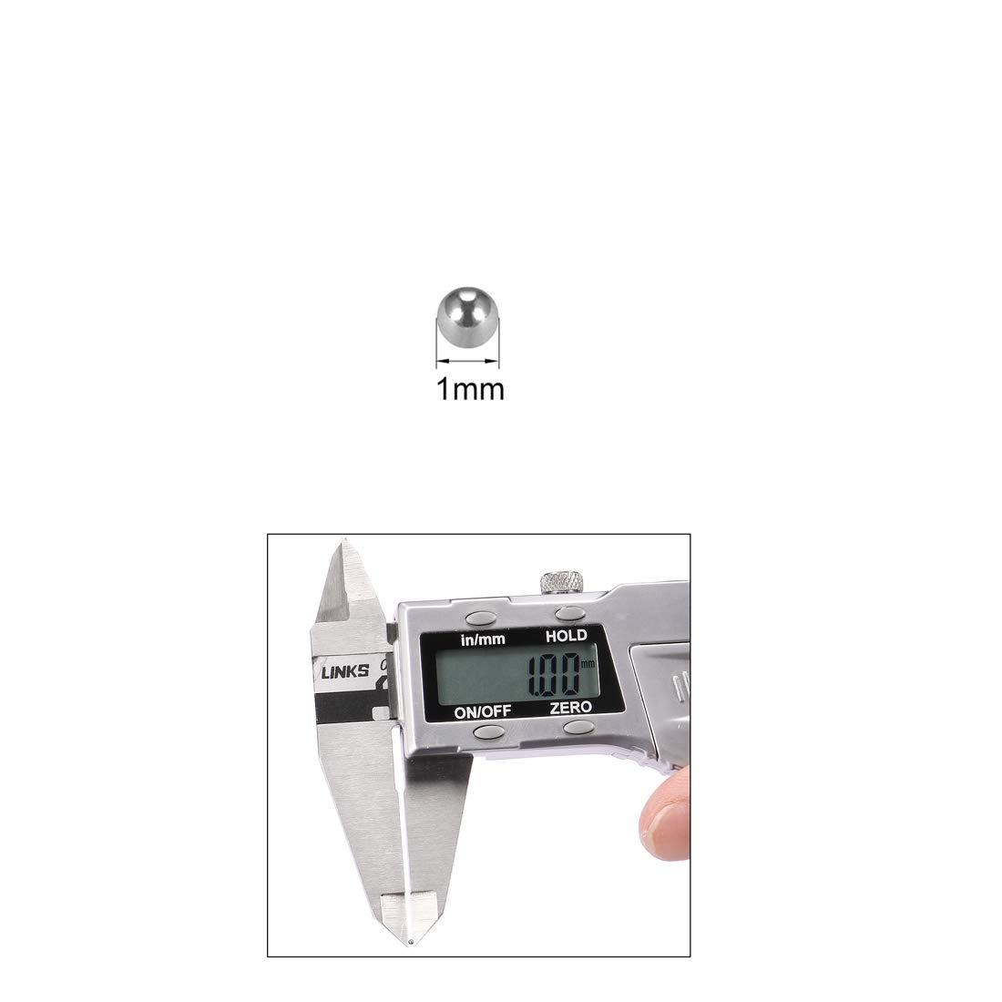 sourcing map Bille Roulement 2.5mm Chrome Acier G25 Pr/écision 60-63 HRC 200Pcs