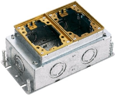 Hubbell Rectangular Floor Box - 7