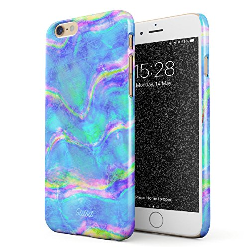 Iris Abalone (Glitbit Compatible with iPhone 6 Plus / 6s Plus Case Mermaid Paua Abalone Haliotis Iris Holographic Mother of Pearl Opal Cotton Candy Thin Design Durable Hard Shell Plastic Protective Case Cover)