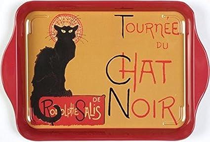 "8 1//4/"" x 5 1//2/"" Tray Tin /""Tournee du Chat Noir/"" - Multi-purpose"