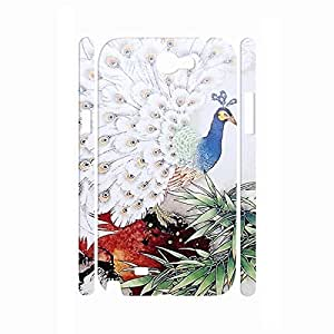 Cool Animal Series Peacock Picture Pretty Style Phone Accessories Hard Plastic Cover for Samsung Galaxy Note 2 N7100 Case