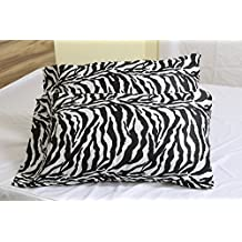 Zebra Print Premium 600 Thread Count Ultra-Soft Organic Cotton Quality 2pc Set of Pillow Cases, Silky Soft & Wrinkle Free (ALL COLORS/SIZES)-King Size BY- ARlinen
