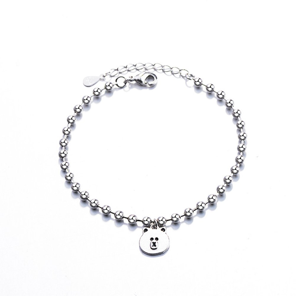 YAZILIND Vintage Charm Link Bracelet Silver Plated Adjustable Jewelry for Girls YAZILIND JEWELRY LTD 1805B0019/CAB