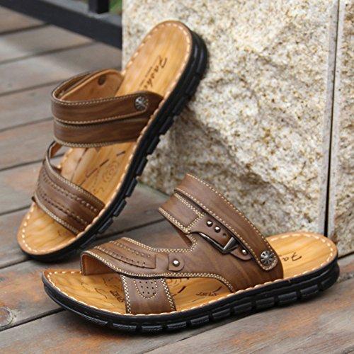 sandales tongs toetoefashionmen'spiedsantidérapant 103kaki leschaussuresdeplage Zhangjia 41 àdoublebutcoolpantoufles Basd'été RvS7EE