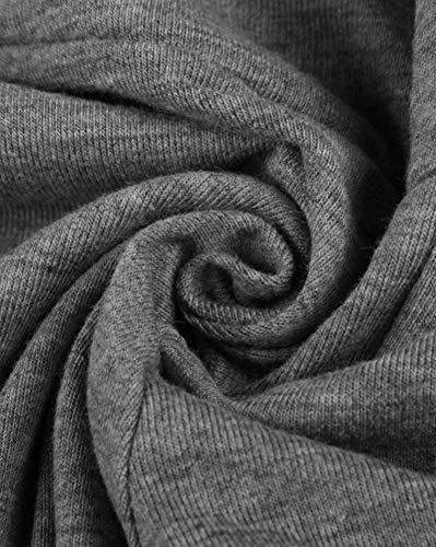 Pierna Ancha Yoga Holgados Flojos Alta Palazzo De Sólido Ancho Color Guocu Cintura Mujeres Gris Claro Elástica Pantalones Suave pwE11q