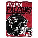 "Officially Licensed NFL Atlanta Falcons ""40 Yard Dash"" Micro Raschel Throw Blanket, 46″ x 60″, Multi Color"