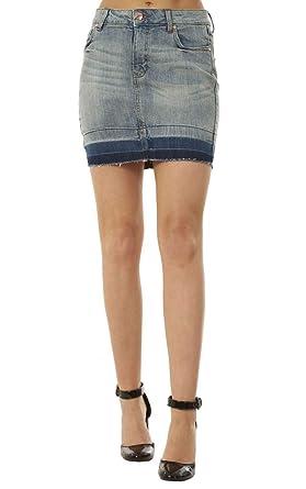 4b4dd17b285c72 Ex Highstreet Mini-Jupe en Jean - Femme - avec Poches - été - Bleu ...