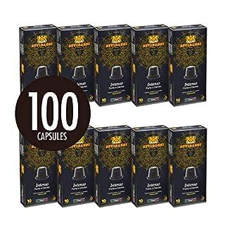 Attibassi Nespresso Compatible Coffee Capsules Intenso, 100 Pods