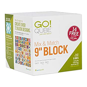 Image of AccuQuilt GO! Fabric Cutting Dies; GO! Qube Mix & Match 9' Block Quilting