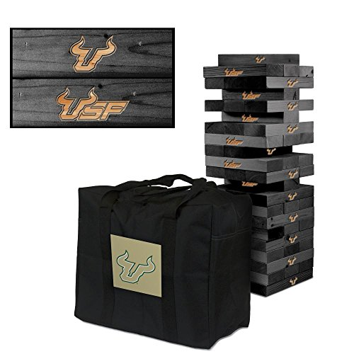 NCAA South Florida Bulls USF 850335South Florida Bulls USF Onyx Stained Giant Wooden Tumble Tower Game, Multicolor, One Size by Victory Tailgate
