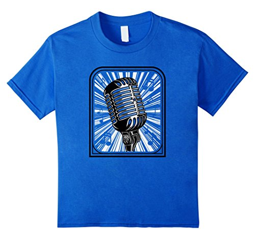 Price comparison product image Kids Vintage Microphone T-shirt 12 Royal Blue