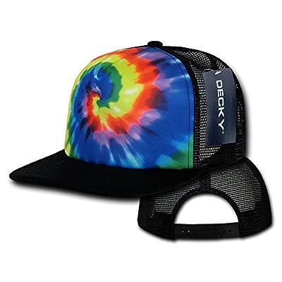 DECKY Tie Dye Print Trucker Cap, Rainbow