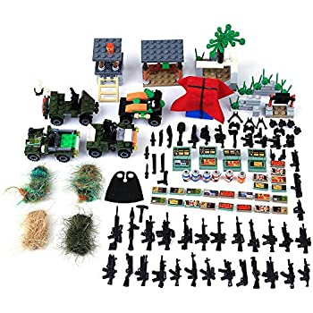 PeleusTech Accessory Set for Minifigure, Arms Truck Camouflage Airdrop Accessories for Military Minifigure
