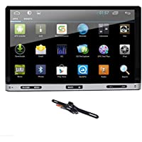 TOCADO GPS Navigation Car DVD Player with 7 Display, Quad Core Android 6.0 Double 2-Din In-Dash DVD Receiver with Bluetooth GPS USB SD + Backup Camera