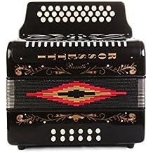 Rossetti 3112 31 Button 12 Bass Diatonic Deluxe Accordion GCF (black)