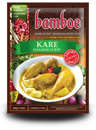 Bamboe Bumbu Instant Kare - Javanese Curry , 36 Gram (Pack of 6) by Bamboe