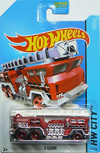 Hot Wheels 2014 Hw City Hw Rescue Red 5 Alarm Fire Truck 41/