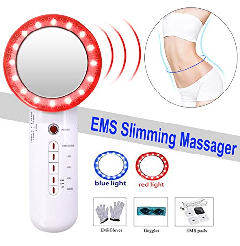 Fat Remover - Weight Loss Machine - Med-Rehabs EMS Fat Remover Massager Multifunctional Vibration 6 in 1 Beauty Device Sliming Massager for Arm Leg Belly Weight Reduce & Skin Tightening Tool
