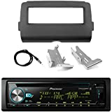 Pioneer Marine Bluetooth Radio USB AUX CD MP3 WMA Audio Receiver Bundle Combo with Installation Dash Kit for 2014 and Up Harley Motorcycle, Enrock 22 Radio Antenna