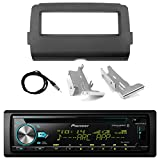 Pioneer Marine Bluetooth Radio USB AUX CD MP3 WMA Audio Receiver Bundle Combo with Installation Dash Kit for 2014 and Up Harley Motorcycle, Enrock 22' Radio Antenna