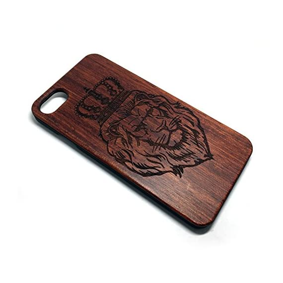 iPhone 7/iPhone 8 Case, Slim Wood Protective Cover Case for iPhone 7,Handmade Wood & Slim Durable Polycarbonate Bumper,Nature Seris(Eye of Providence) (Rosewood Lion Crown) 2 √ Compatible with iPhone 7 (Not for iPhone7 Plus) √ Naturally wood different,each wood back has a unique grain and texture. √ Specially designed for iPhone 7, has precise design for speakers, charging ports, audio ports and buttons.