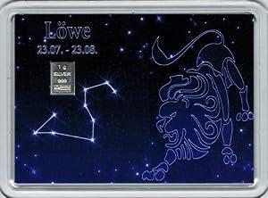 1g Silberbarren Feingehalt 999 in Motivbox Sternzeichen Löwe