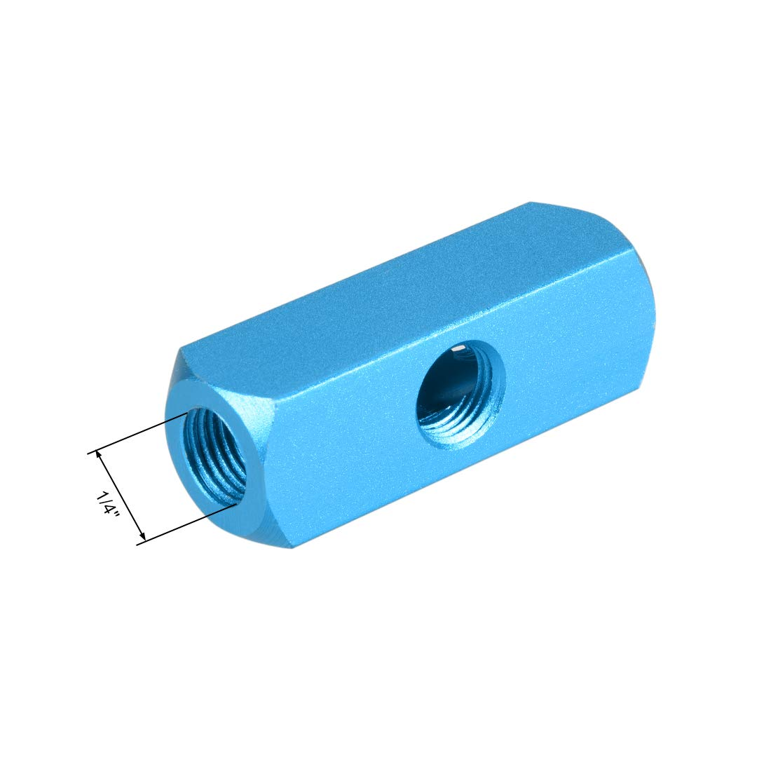 Uxcell a12082900ux0136 1//4 PT Thread 3 Way Quick Connect Air Hose Manifold Block Splitter
