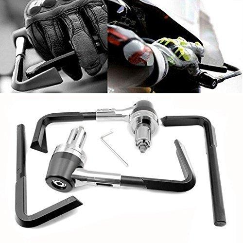 Paar Universal 7//8 Motorrad Bremse und Hebelschutz Lenker Ende Handsch/ützer Silber