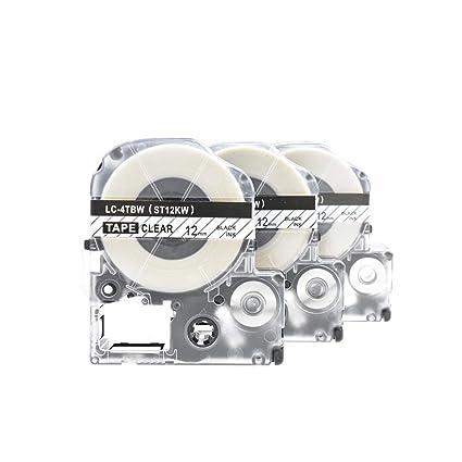 3x SZEHAM Casete de Cinta compatibles Epson LC-4TBW, para Epson ...