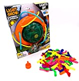 Prime Time Toys Tidal Storm Light Show Spinning Sprinkler and Water Balloons Bundle (Colors Vary)