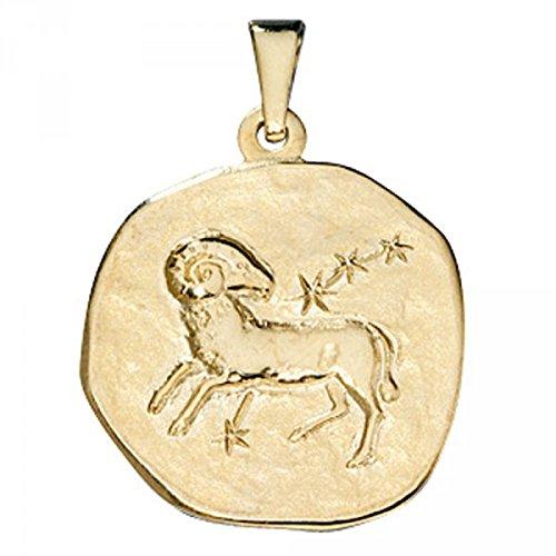 Pendentif signe du zodiaque Bélier en or jaune 333
