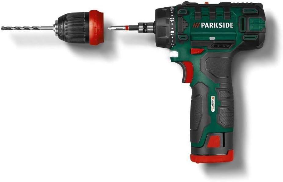 Parkside PBSA 12 D2 - Taladro atornillador (12 V)