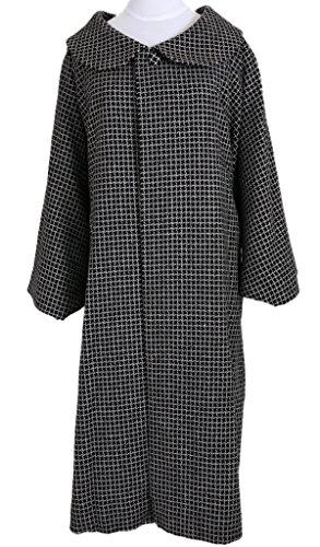 【粋夢】丸衿コート ロングコート 黒