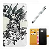 Huawei Mate 9 Case Wakso Flip PU Leather Wallet Case with Stand Function Cover Anti-Shock Protective Case - Goddes