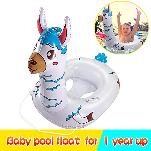 TRSCIND Baby Pool Float Kid Swimming Floats with Safety Rope Inflatable Floatie Swim Ring for Kids-Toddlers Aged 1-7 Years