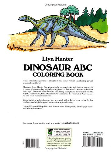 Dinosaur ABC Coloring Book Dover Coloring Books Llyn Hunter